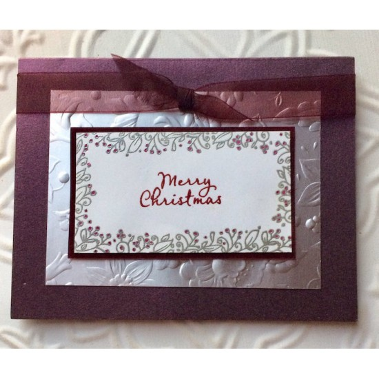 Little Merry Christmas Script Rubber Stamp
