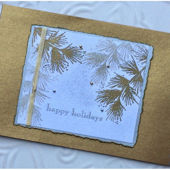 Winter Bough Rubber Stamp