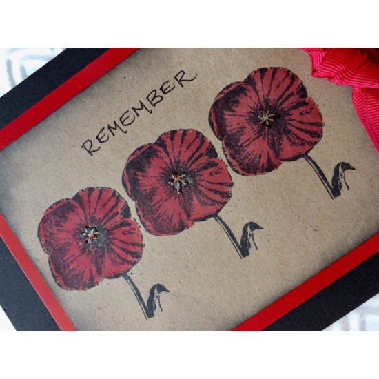 Vintage Poppy Rubber Stamp