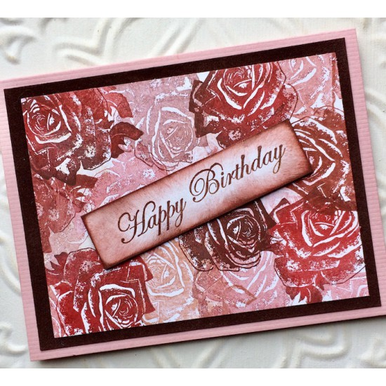 Vintage Rose Rubber Stamp