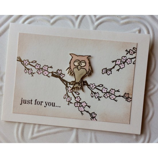 Who gives a hoot owl Rubber Stamp