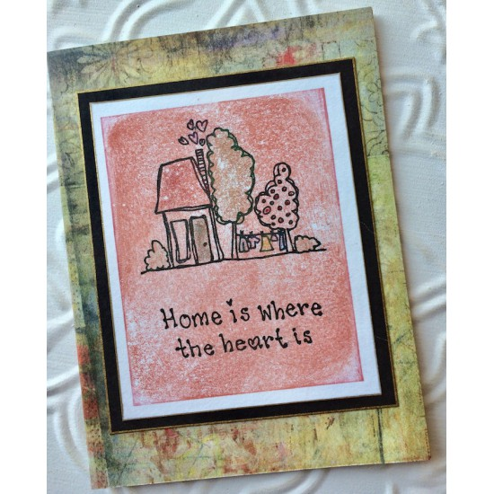 Happy Home Rubber Stamp