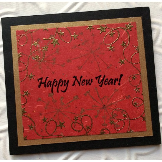 Happy New Year! Rubber Stamp