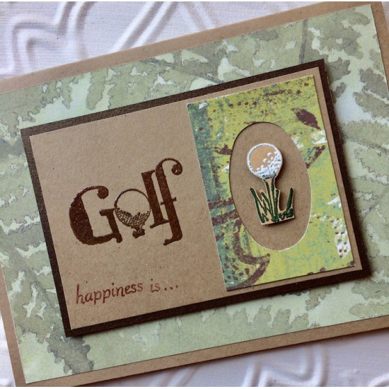 Golf Rubber Stamp