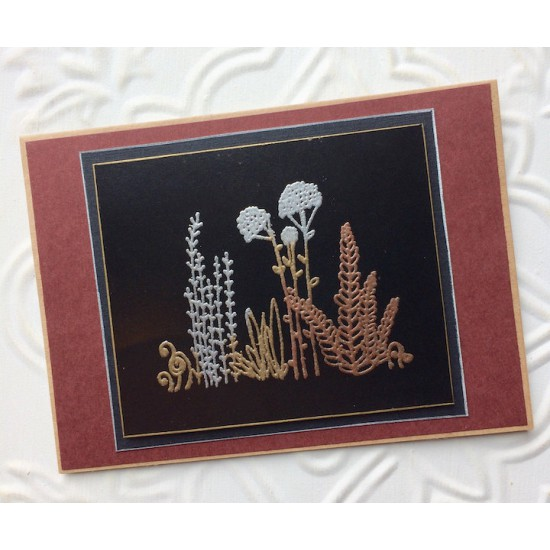 Field of Flowers Rubber Stamp