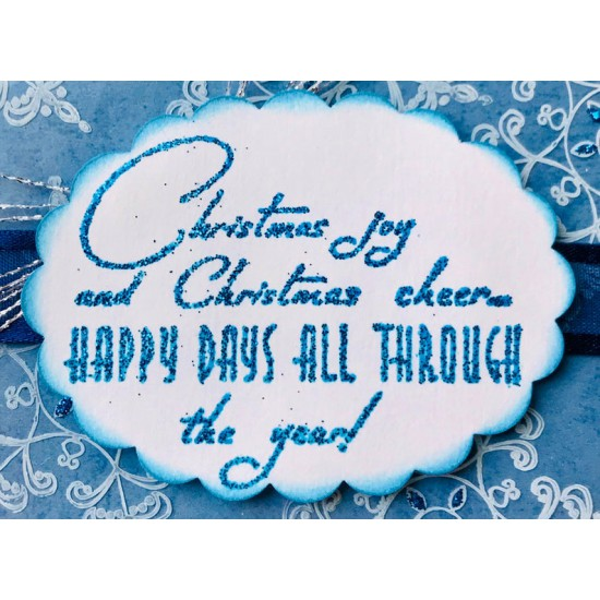 Christmas Joy Verse Rubber Stamp