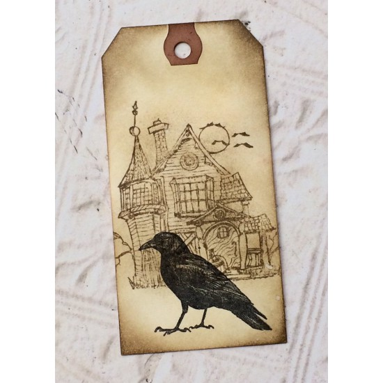 Common Crow Rubber Stamp