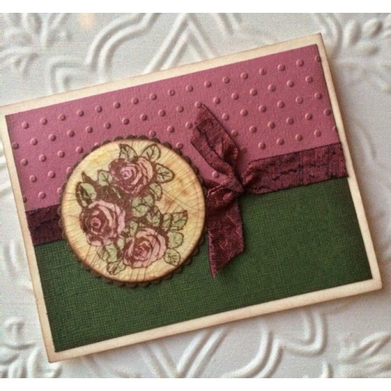Rose Cluster Rubber Stamp