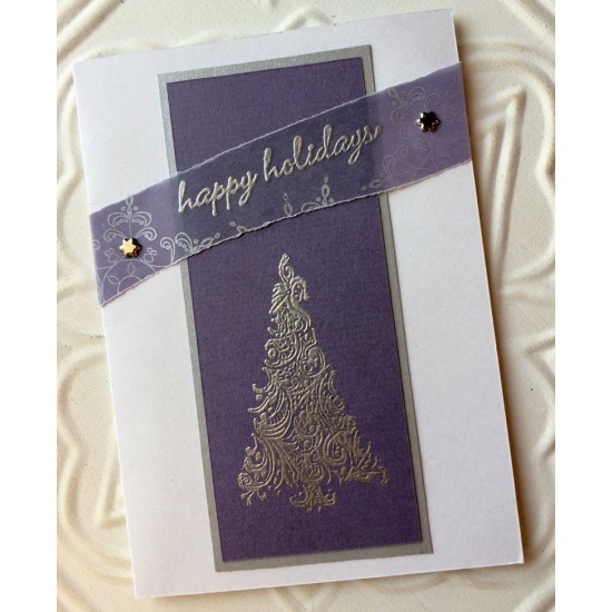 Mosaic Christmas Tree Rubber Stamp