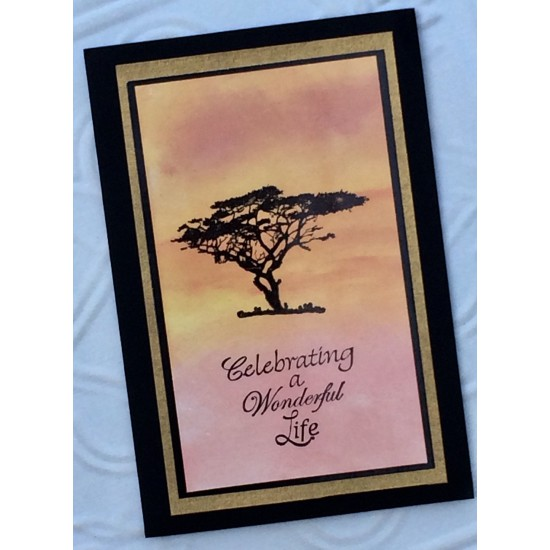 Serengeti Tree Rubber Stamp