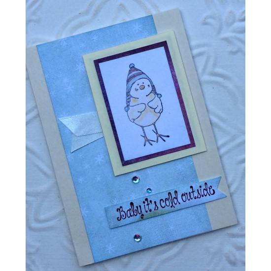Rupert Baby Bird Rubber Stamp
