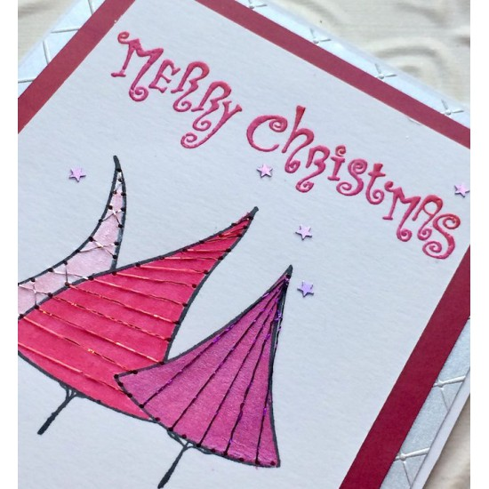 Carmen's Christmas Merry Christmas Rubber Stamp