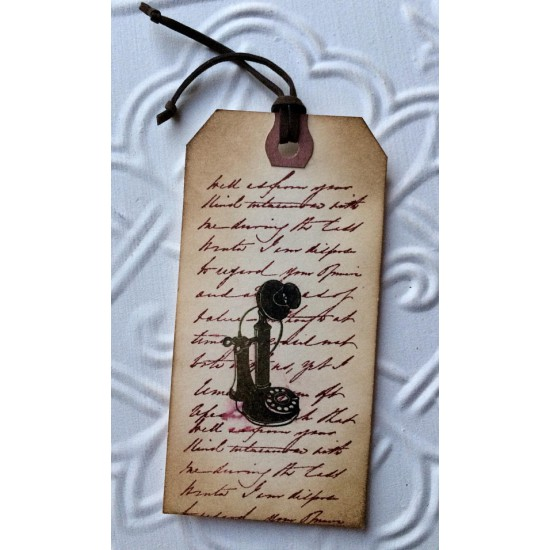 Vintage Phone Rubber Stamp