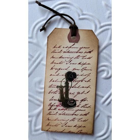 Vintage Phone Rubber Stamp