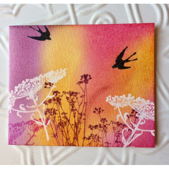 Silhouette Swallow Rubber Stamp