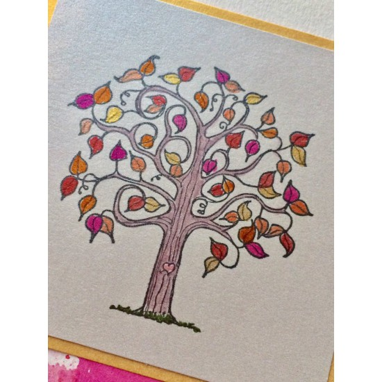 First Love Tree Rubber Stamp