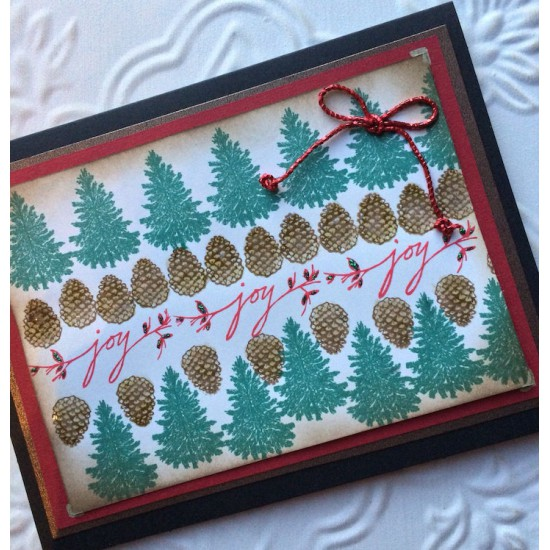 Joy Sprig Rubber Stamp