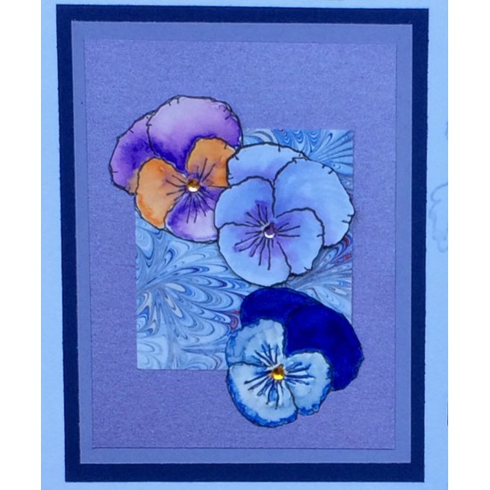 Pansy Rubber Stamp