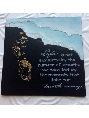 Footprints in the Sand Rubber Stamp