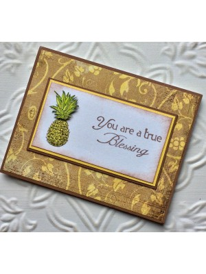 Pineapple Rubber Stamp